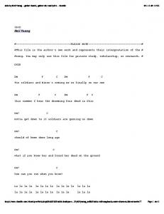 ohio by Neil Young - guitar chords, guitar tabs and ... - TheJukeBox.ca
