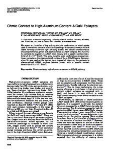 Ohmic Contact to High-Aluminum-Content AlGaN ... - Springer Link