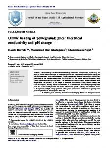 Ohmic heating of pomegranate juice: Electrical conductivity and ... - Core