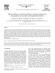 Ohmic heating of strawberry products: electrical ... - CiteSeerX