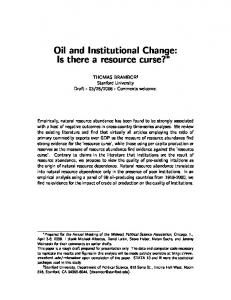 Oil and Institutional Change: Is there a resource curse?
