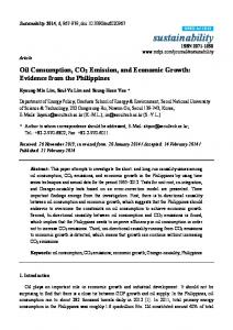 Oil Consumption, CO2 Emission, and Economic Growth - MDPI