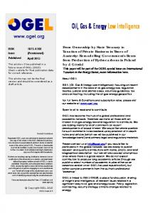 Oil, Gas & Energy Law Intelligence - SSRN papers