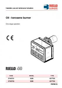 Oil - kerosene burner - DB Green Ltd