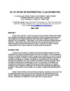 OIL OF CATNIP BY SUPERCRITICAL FLUID EXTRACTION