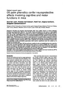 Oil palm phenolics confer neuroprotective effects ... - BioMedSearch