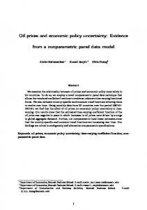 Oil prices and economic policy uncertainty: Evidence ...
