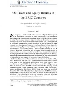 Oil Prices and Equity Returns in the BRIC Countries - SSRN