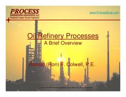 Oil Refinery Processes - Process Engineering Associates, LLC