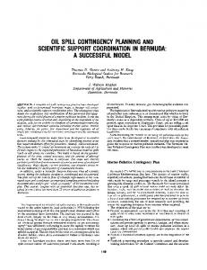 oil spill contingency planning and scientific support coordination in ...