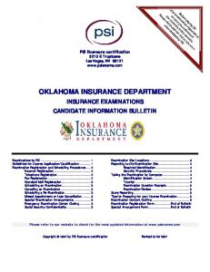 oklahoma insurance department - State of Oklahoma Website