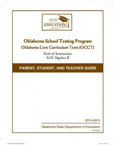 Oklahoma School Testing Program - State of Oklahoma