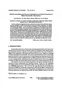 OLCAO based Electronic Structure Calculations and Optical ...