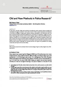 Old and New Methods in Police Research