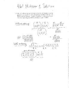 Old Midterm 1 with solutions