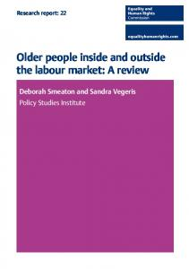 Older people inside and outside the labour market: A review