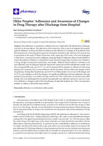Older Peoples' Adherence and Awareness of Changes in Drug ... - MDPI