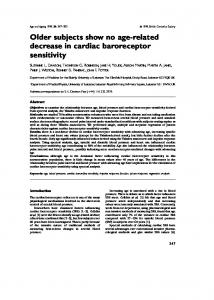 Older subjects show no age-related decrease in cardiac baroreceptor ...