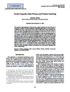 Older Women and Problem Gambling