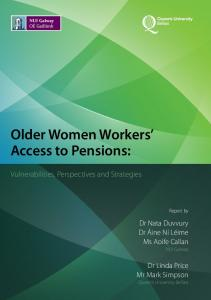 Older Women Workers' Access to Pensions