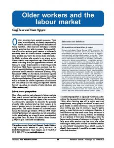 Older workers and the labour market - CiteSeerX