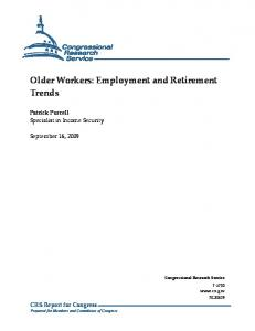 Older Workers: Employment and Retirement Trends - Bollettino Adapt