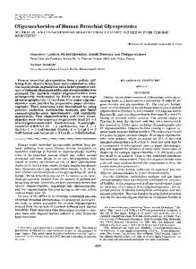 Oligosaccharides of Human Bronchial Glycoproteins - The Journal of ...