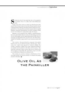 OLIVE OIL AS THE PAINkILLER