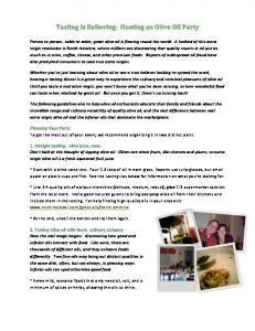 Olive oil party How To.pdf - Truth in Olive Oil