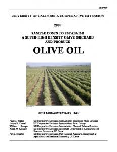 olive oil - UC Cooperative Extension