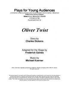 Oliver Twist - Plays for Young Audiences