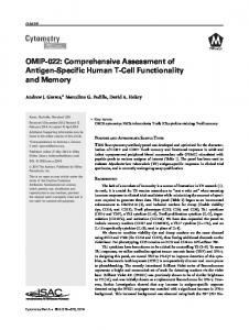 OMIP022: Comprehensive assessment of ... - Wiley Online Library