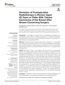 Omission of Postoperative Radiotherapy in Women ...