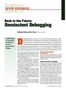 Omniscient Debugging parallel programming