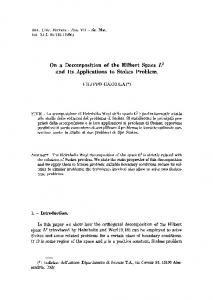 On a decomposition of the Hilbert space L