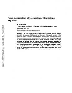 On a deformation of the nonlinear Schr\