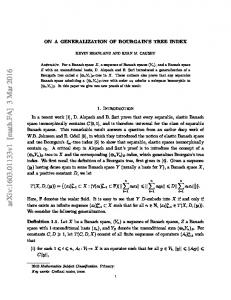 On a generalization of Bourgain's tree index