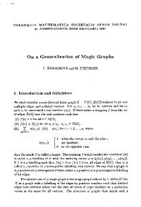 On a Generalization of Magic Graphs