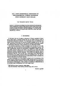 On a new geometrical derivation of two-dimensional Finsler manifolds ...