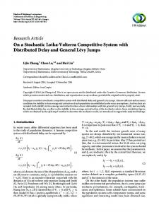 On a Stochastic Lotka-Volterra Competitive System with Distributed ...