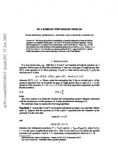ON A SUBSPACE PERTURBATION PROBLEM
