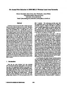 On Access Point Selection in IEEE 802.11Wireless ... - James Gross