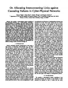 On Allocating Interconnecting Links against Cascading Failures in ...