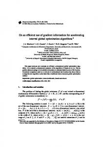 On an Efficient Use of Gradient Information for Accelerating Interval ...