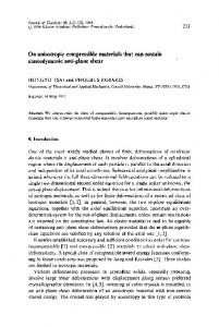 On anisotropic compressible materials that can sustain ... - Springer Link