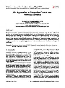 On Approaches to Congestion Control over Wireless Networks