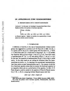 On approximate cubic homomorphisms