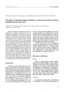 on Autocrine Growth of Human Epithelial Cancer Cell Lines - CiteSeerX