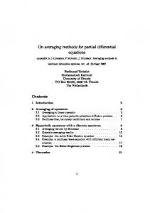 On averaging methods for partial differential equations