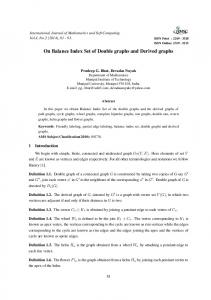 On Balance Index Set of Double graphs and Derived graphs